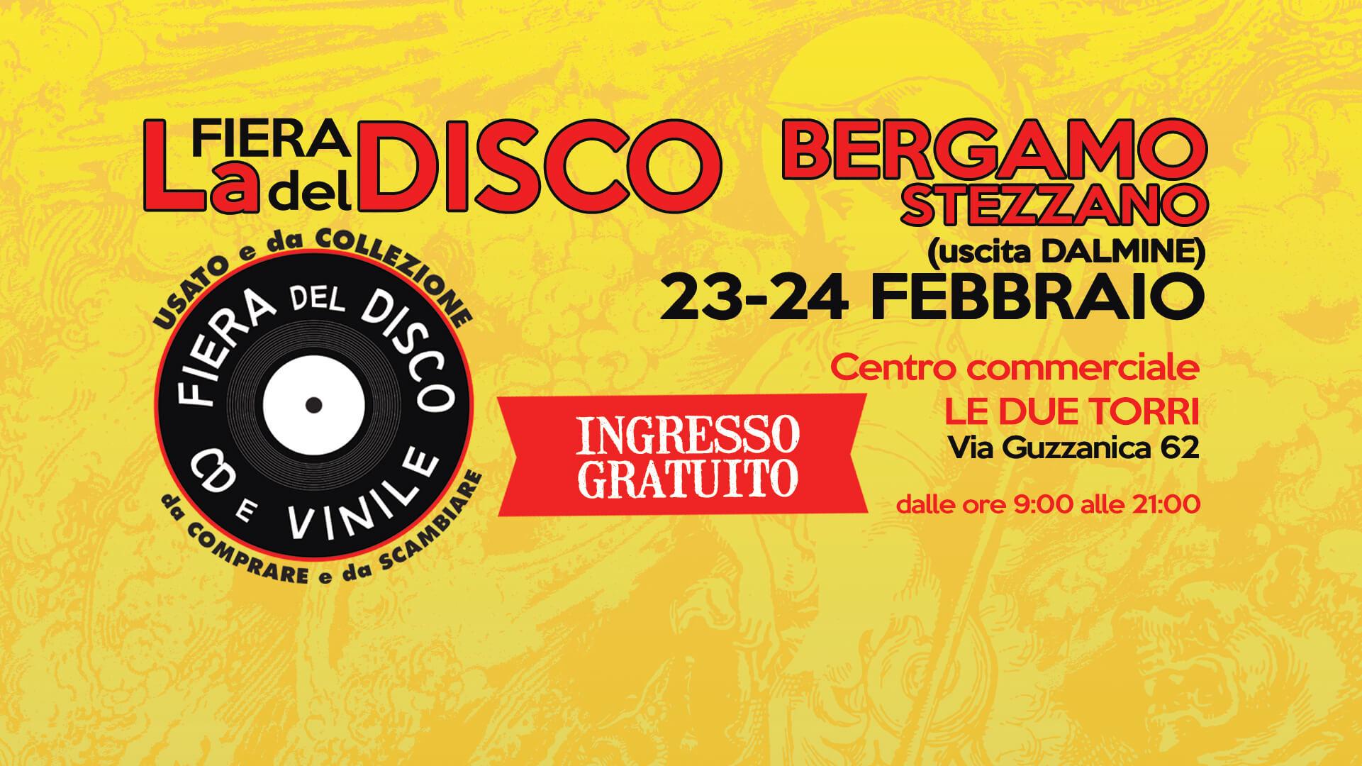 Fiera del disco bergamo 23 e 24 febbraio 2019 for Fiera arredamento bergamo